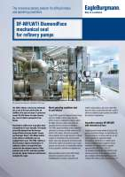 Solution: DF-MFLWTI DiamondFace mechanical seals for refinery pumps