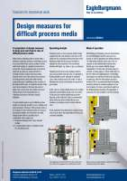 Solution: Design measures for difficult process media